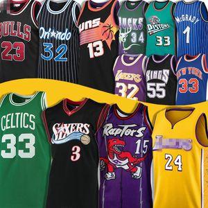 Vince 15 Carter Jersey Larry 33 Kuş Allen 3 Iverson LeBron Grant 23 James Tepesi Allen Earvin Ray Johnson Steve Jason Nash OrlandoMagics