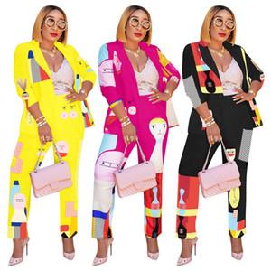 Femmes Designer Survêtement Costumes Veste + Jambières Ensemble 2 pièces lambrissés Slim Pantalons Tenues Blazers Vêtements de mode Casual Automne Hiver 1695