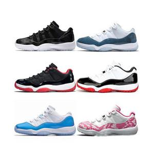 Jumpman pantone 11 11s hombres mujeres zapatos de baloncesto espacio mermelada bajo blanco concord zapatillas Heiress Negro piel de serpiente criado hombres diseñador entrenadores