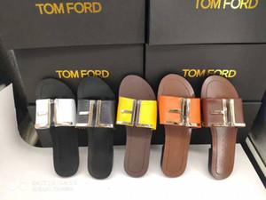 Nuovo marchio di fascia alta estate signore pantofole piatte in pelle di qualità sandali delle donne scarpe casual 35-41 metri spedizione gratuita alta 5 colori 5d4f5