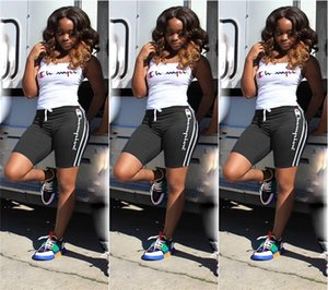 Summer Women Champions Short Tuta 2 pezzi Outfit Canotte Vest + Shorts Tuta sportiva Lettera Printed Sportswear Joggers Set 2019 A32607
