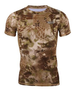 Mens 19SS New Tshirts Summer Sports Camouflage Breathable Gym Fitness Tops Short Sleeved
