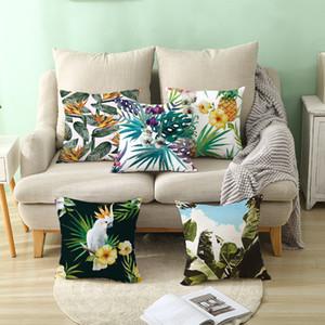 Ins Yastık Kılıfı Tropikal Bitkiler Desenler Yastık Örtüsü Ev Ofis Makaleler Kanepe Bel Pad Yastık Kılıfı Sıcak Satış 4jza L1