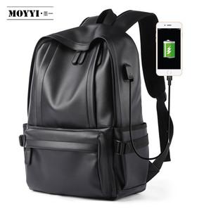 Moyyi toptan Guangzhou laptop çantası Koleji erkekler Sırt Çantası Deri Sırt Çantası çantaları