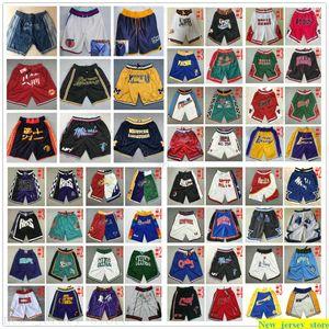 Retro Pocket Basketball Shorts Wholesale Cheap Top Mens Best Quality Stitched Basketball Retro Pocket Short Size S M L XL XXL Free Shipping