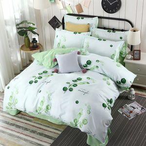 Home Textile Gray White Stripe Bedding Set 100% Microfiber Duvet Cover Flat Sheet Pillowcase AB Side Single Double Bed