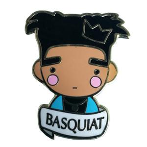 Spilla con distintivo Jean Michel Basquiat