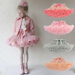 Verão Mulheres Meninas saia tutu Lolita Pettiskirt Petticoat Elastic Fluffy Chiffon Tutus Partido Ballet plissadas vestidos de princesa saia D61608