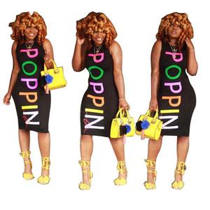 POPPIN Femmes Robes d'été Skinny colorée robes imprimées Designer Sexy Fashion Club manches Robes Femme Vêtements