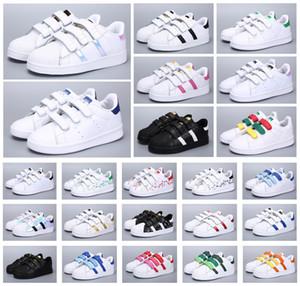 Sıcak Classics Çocuk Stan Smith Shell Başkanı Çocuklar Gençlik Superstar Kız Çocuk Boys Bebek Ayakkabı Casual Sport Sneakers Boyut 24-35