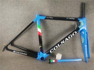 COLNAGO C64 Blue Road Bike Frame Acabado brillante Bicicleta de carbono Marco de carretera DI2 y mecánico