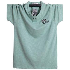 Плюс размер XXXXL 5XL 6XL 2020 Новое лето марка T-Shirt Мужчины с коротким рукавом Свободные дышащий хлопок белье Тенниска мужской моды
