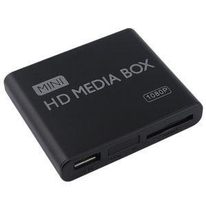 مصغرة ميديا بلاير 1080P البسيطة HDD ميديا بوكس TV مربع فيديو ومشغل الوسائط المتعددة كاملة HD مع SD بطاقة MMC قارئ 100Mpbs الاتحاد الافريقي التوصيل الاتحاد الأوروبي
