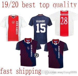 beste Ajax 94/95 Retro Fußball-Trikot weg klassischen Vintage antike Fußballhemd # 15 Kluivert # 4 Rijkaard # 10 Litmanen # 11 Overmars Maillot