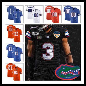 2020 Orange Bowl Florida Gators Preto Jersey Football 11 Kyle Trask 5 Emory Jones Kadarius Toney Emmitt Smith Kyle Pitts Steele Sutton Retro