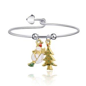 Meirenpeizi Симпатичный кулон Рождественский подарок браслет для детей женского подарка Кристмас сплава Trend Личность ювелирные изделия браслет