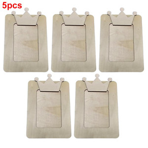5Pcs Photo Frame Desktop Gifts Ornament Home DIY Rectangle Home Decoration Wooden Holder Picture Accessories Office Crafts