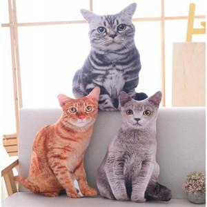 Babiqu 50 centímetros Simulação de pelúcia Almofadas Cat Soft Bichos de pelúcia almofada do sofá Decor desenhos animados Plush Brinquedos para Crianças caçoa o presente