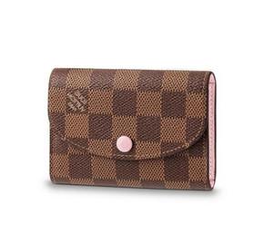 2019 Rosalie Geldbörse N64423 Neue Frauen Fashion Shows Exotische Leder Taschen Iconic Taschen Kupplungen Abendkette Wallets Purse
