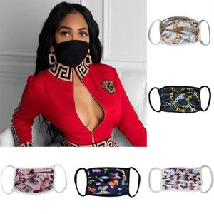 Designer-Gesichtsmasken Maske waschbarer Staubdichtes Respirator Reiten Radfahren Blumen-Druck-Mode Masken für Männer und Frauen DHL Versand