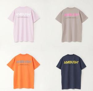 heiße hohe Qualität UNHS HINTERHALT 19SS XL LOGO klassische logo komfortable T-shirt Männer Frauen Paar Sommer Mode Lässig Straße T-shirt 4 Farben