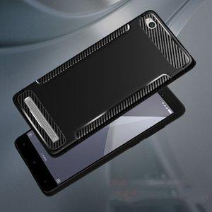 A prueba de golpes TPU Funda de silicona blanda para Xiaomi Redmi 5A 5 Redmi Note 5A Y1 lite Y1 silicona fibra de carbono TPU teléfono nuevo caso