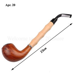 Resin Pipes Classic Chimney Filter Long Smoking Pipes Tobacco Pipe Cigar Gifts MP026