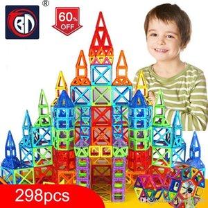 100-298pcs Blokları Manyetik Tasarımcı İnşaat Seti Model Oluşturma Oyuncak Plastik Manyetik Bloklar Eğitici Oyuncaklar İçin Çocuk Hediye