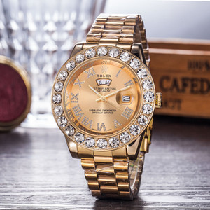 2019 nuovo orologio diamante watche argento quadrante orologio da polso mens sport orologio da polso pieghevole cinturino in acciaio sport impermeabile orologio al quarzo Relogio amanti