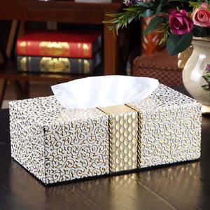 LUDA hogar del coche del rectángulo del tejido soporte en forma de caja del tejido del hogar Sala de estar Escritorio Servilleta