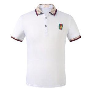 2020 New Designer Polo Shirt Herren Luxus Polo Casual Herren Polo T-Shirt Snake Bee Letter Print Stickerei Mode High Street Herren Polos
