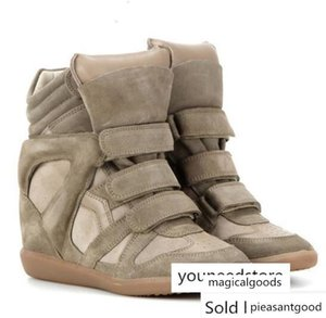 Hot Sale-Box Isabel Bekett Leather And Suede Marant Genuine Leather Height Increasing