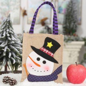 Christma Candy Bag Squisite decorazioni natalizie per la casa Regalo di Capodanno Pacchetto Cartoon Ricamato Sacchetti regalo di Babbo Natale