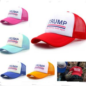 Trump Unisex Baseball Ball Cap Casquette Keep America Great 2020 Hat Fashion Donald Trump Mesh Cap Summer Beach Ball Sunhat B52002
