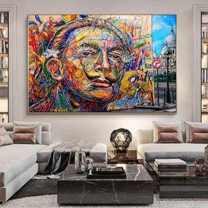 Résumé Salvador Dali Graffiti Art toile Peintures sur les affiches Art de mur et de la rue Prints Canvas Art Pictures Home Decor