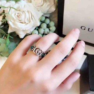وصول جديدة S925 الفضة النقية جوفاء حلقة وتصميم زهرة للنساء مجوهرات الزفاف هدية مجانية الشحن PS7642