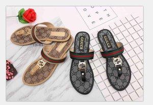 596 new slipper women slide striped sandals causal Non-slip summer slippers flip flops slipper size35-42