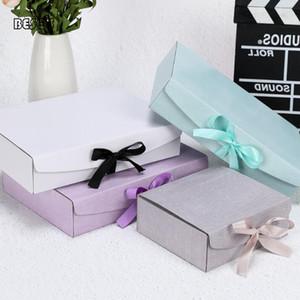 Atacado Carteira Cor Folding Ribbon Gift Box atividades do partido Belt pijamas de seda Lenços Bra decorativa Box Gift Pack