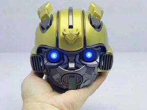 2019 beliebte Bumblebee Cassa Bluetooth Lautsprecher Mini Transformatoren Weihnachten Kind Geschenk LED Blinklicht BT Boombox Hoporler Kinder Bocinas