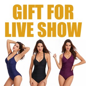 Gift For Live Show   Women One Piece Swimsuits V Neck Bathing Suit Ruched Tummy Control Solid Beach Swimwear