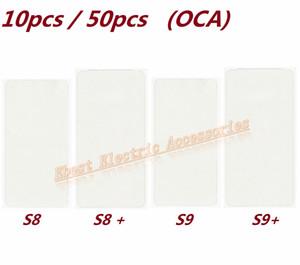 10 stücke 50 stücke OEM OCA Optical Clear Klebeband Aufkleber Für Samsung Galaxy S8 S8 Plus S9 S9 Plus