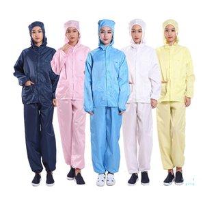 Vêtements de protection anti-poussière Et Droplet Hommes Femmes Travail Costume Vêtements Deux Pièces Veste à capuche + Pantalon multi fonction vêtement S-4XL E32411