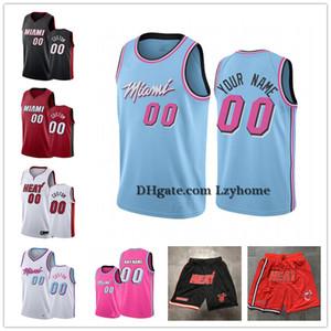 Özel Dwayne 3 Wade Jimmy 22 Butler 14 Tyler Herro MiamiIsı Şort Kendrick 25 Nunn Goran Dragic 7 Bam 13 Adebayo Basketbol Formalar