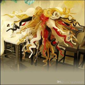 -Kunde Chihuly Art Blown Murano Glasleuchter Lampen Hotel Big Französisch Jahrgang Handgemachte geblasenem Glas Big Kronleuchter
