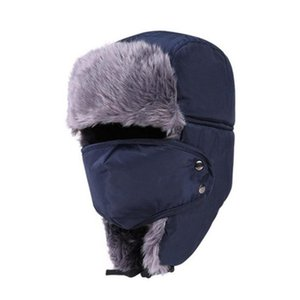 Balaclava Earflap Bomber Hats Caps Scarf Men Women Russian Trapper Hat Trooper Earflap Outdoor Snow Ski Hat Cap With Scarve 8