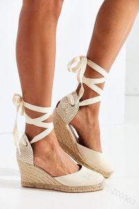 Frauen Sandalen Retro Wedges Schuhe Frau Sommer Plateau Sandalen Schnüren Chunky Heigh Heels Alias Mujer Keilabsatz Schuhe Dame