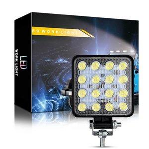 48W inundación del trabajo del LED enciende impermeable del coche SUV faros LED Reflectores Off-Road granos de la lámpara Led luces de marcha Suv Faros de Niebla