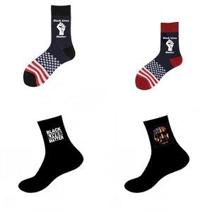 DHL Verschiffen-Schwarz-Live-Matter-Socken Mens Fashion Summer Sports Socken Brief Prints Freizeit Cotton Lange Socken Geschenk 4 Styles X270FZ