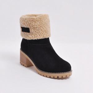 2020 Новые кожаные сапоги Женщины снег Зима Австралии Классические Kneel Половина Сапоги Ботильоны Черный Зеленый Дизайнерская обувь