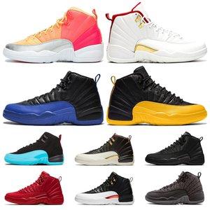 Nike air jordan 12 Snakeskin 12 12s FIBA CNY Bumblebee Mens Basketball Shoes Reverse Game Royal Blue Gym Red Wings Grey airJordan Retro sports designer